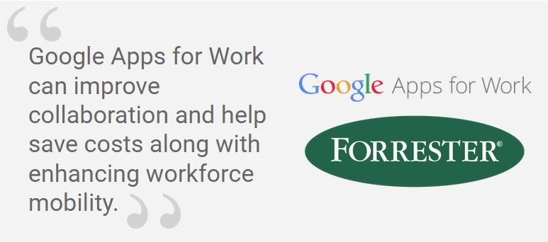 The ROI of Google Apps for Work: 2015 Forrester Research Report